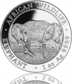 Somalia Elefant Silber 2020