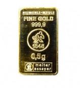 0,5 g Goldbarren