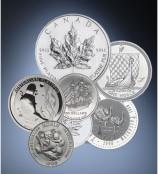 Palladium- und Platin-Münzen