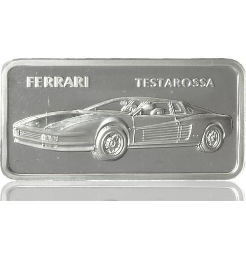 1 oz Silber Motiv-Barren Ferrari Testarossa
