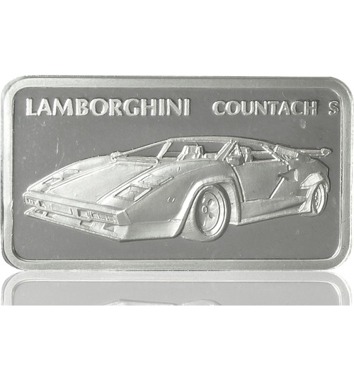 1 oz Silber Motiv-Barren Lamborghini Countach S