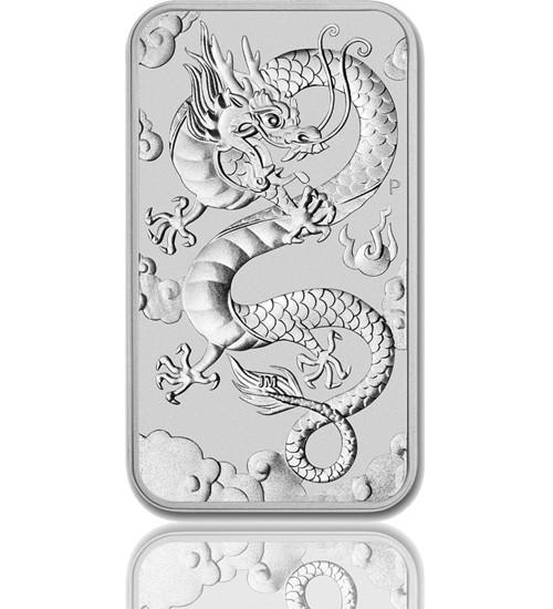 1 oz Silber Motiv-Barren 2019 Drache Perth Mint