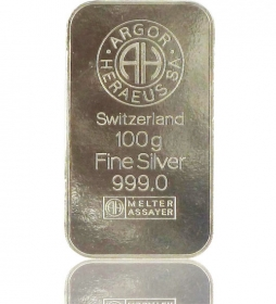 Silber-Barren 100 g (LBMA-zertifiziert)
