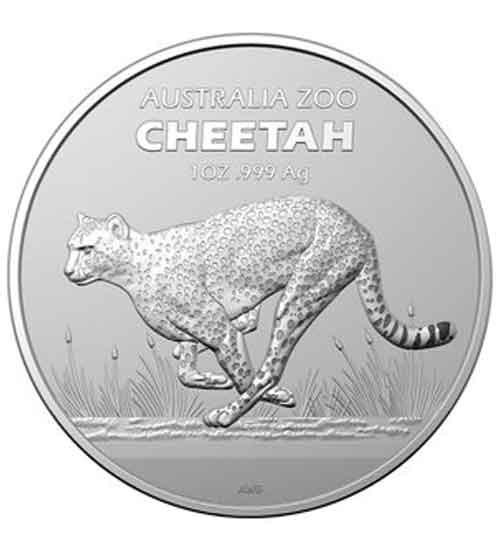 Australia Zoo Gepard Cheetah Silbermünze 1 oz 2021