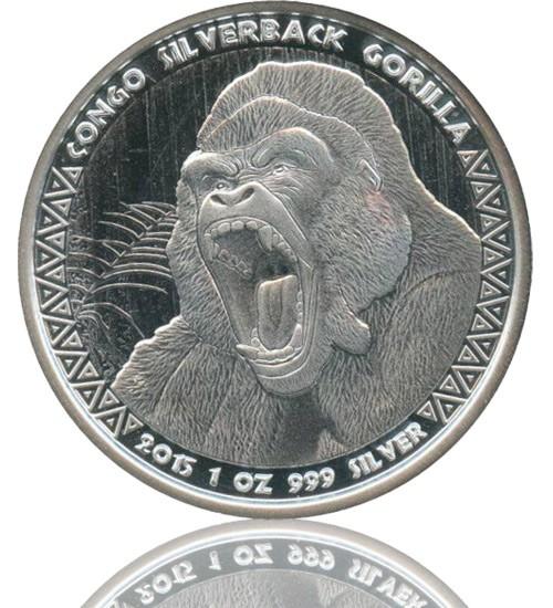 1 oz Congo Silverback Gorilla 2015