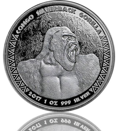 1 oz Congo Silverback Gorilla 2017