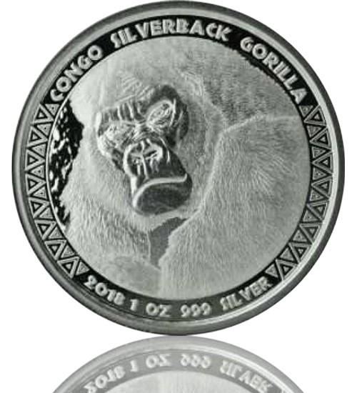 1 oz Congo Silverback Gorilla 2018
