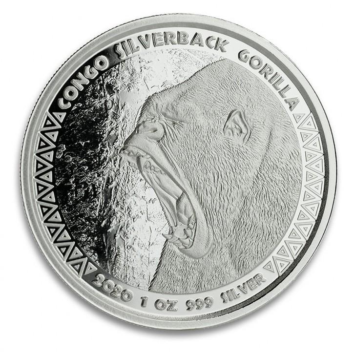1 oz Congo Silverback Gorilla 2020