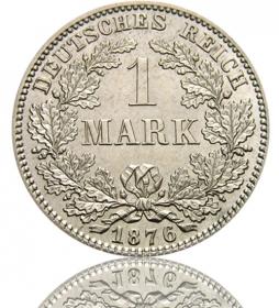 Kaiserreich 1 Mark 1873-1887 J. 9