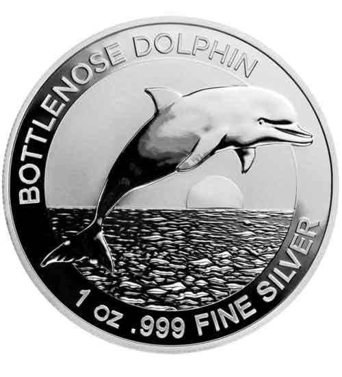 Dolphin RAM Silbermünze 1 oz 2019 Bottonnose Dolphin (Delfin)