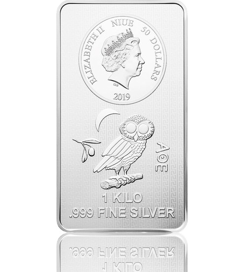 1000 g Eule von Athen 2021 Münzbarren LBMA zertifiziert
