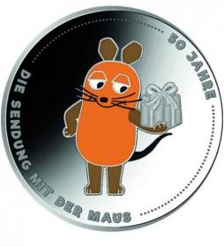 20 Euro Silbermünze 2021, 50 Jahre Die Sendung mit der Maus