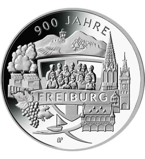 20 Euro Silbermünze 2020, 900 Jahre Freiburg