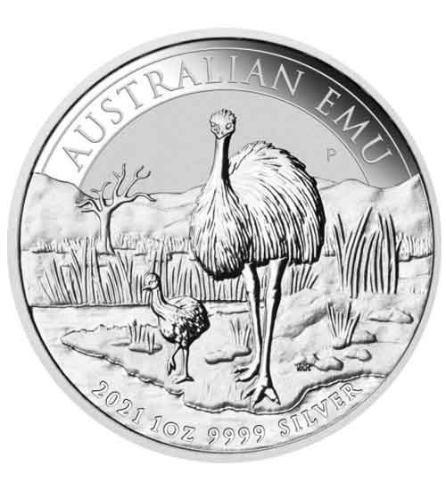 Australian Silber Emu 1 oz 2021