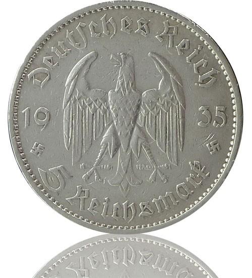 """5 Reichsmark RM """"Garnisionkirche"""" 1934-1935 J. 357"""