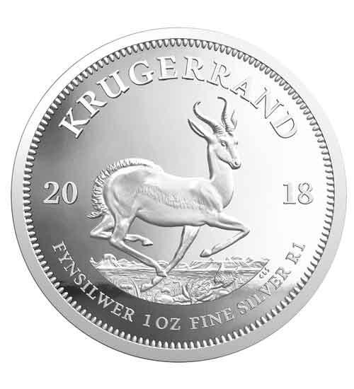 Krügerrand 1 oz Silber 2018 PP
