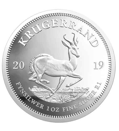 Krügerrand 1 oz Silber 2019 PP