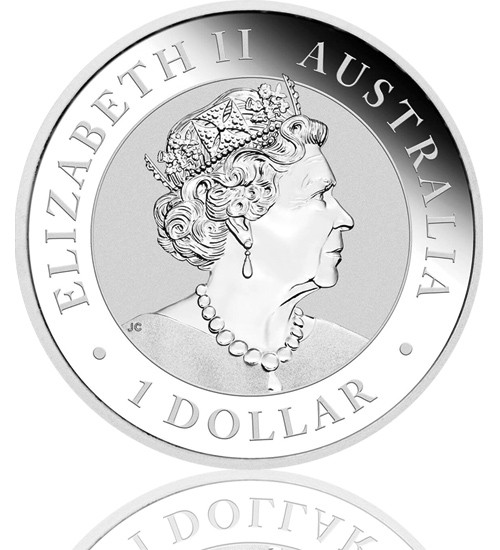 Australian Silber Nugget 1 oz 2020 - Hand of Faith
