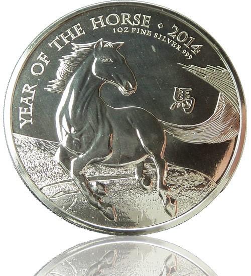 Großbritannien Lunar Serie 1 oz 2014 Pferd Horse
