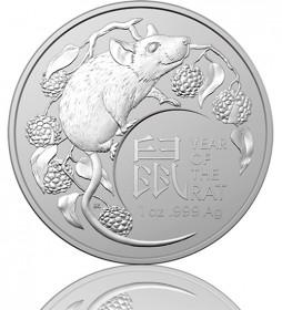 Lunar Serie RAM 1 oz Silber 2020 Ratte Rat