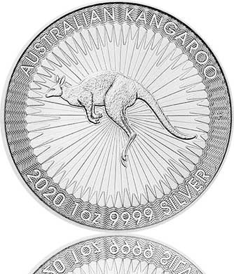 Silber Känguru 1 oz 2020 Perth Mint