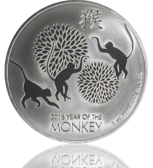 1 oz Niue Lunar Serie Silber 2016 - Affe