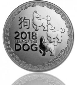 1 oz Niue Lunar Serie Silber 2018 - Hund