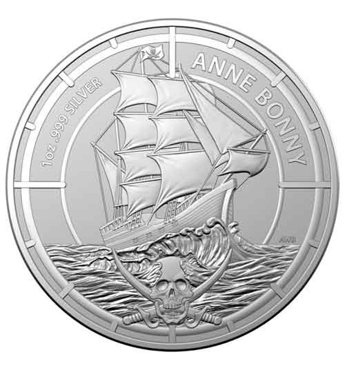 Australien Pirate Queens - Anne Bonny Silbermünze 1 oz 2021