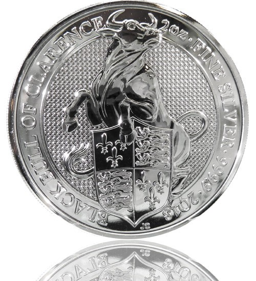 The Queen's Beast - Black Bull of Clarence 2 oz 2018