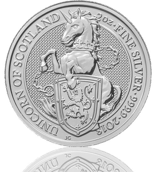 The Queen's Beast - Einhorn von Schottland 2 oz 2018