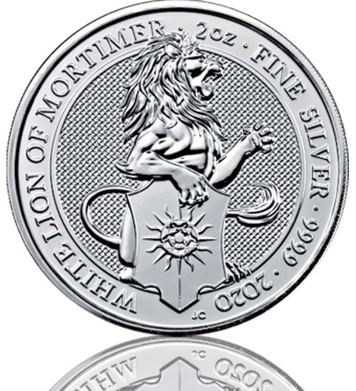 The Queen's Beast - White Lion of Mortimer 2 oz 2020