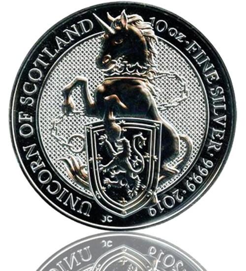 The Queen's Beast - Unicorn of Scottland 10 oz 2019