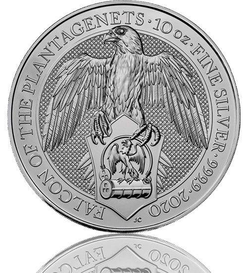 The Queen's Beast - Falcon of the Platagenets 10 oz 2019