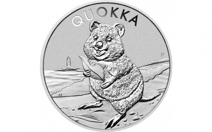 Australien Quokka Silbermünze 1 oz 2020