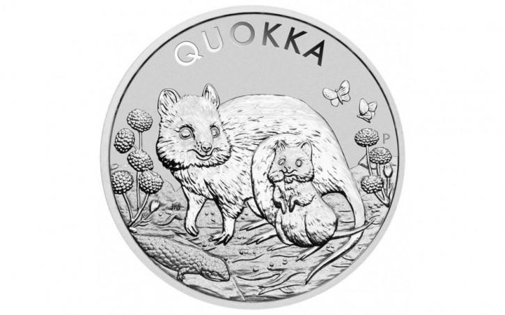 Australien Quokka Silbermünze 1 oz 2021
