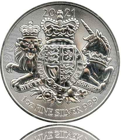 The Royal Arms 1 oz Silbermünze 2021