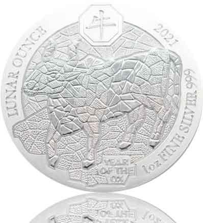 1 oz Ruanda Lunar Serie Silber 2021 Ochse
