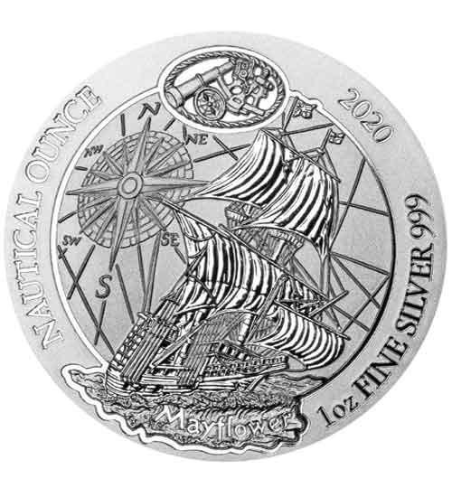 1 oz Ruanda Nautical Ounce Silber 2020 Mayflower