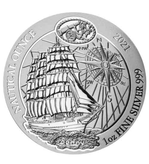 1 oz Ruanda Nautical Ounce Silber 2021 Sedov
