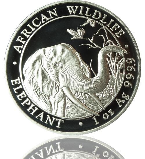 1 oz Somalia Elefant 2018 African Wildlife