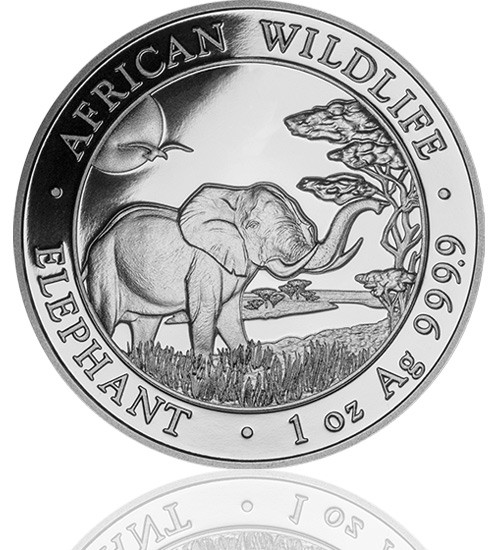 1 oz Somalia Elefant 2019 African Wildlife
