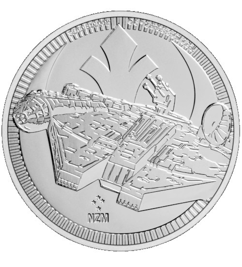 1 oz Niue Star Wars Serie Silber 2021 - Millennium Falcon