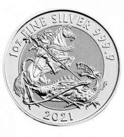 Valiant Silbermünze 1 oz 2021 Heiliger St. Georg der Drachentöter