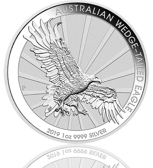 Australien Wedge Tailed Eagle 2019 Silber