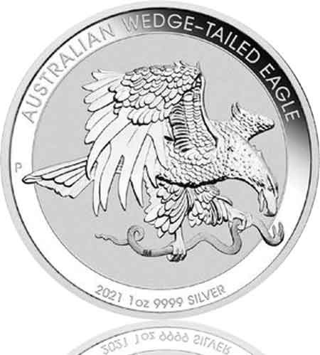 Australien Wedge Tailed Eagle 2021 Silber