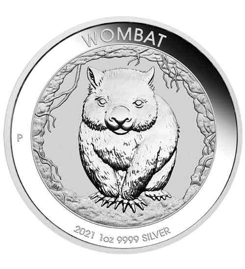 Australien Wombat Silbermünze 1 oz 2021