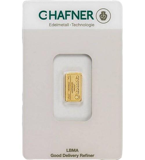 C.Hafner Gold-Barren 1 g Scheckkarte LBMA-zertifiziert