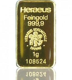 Gold-Barren 1 g LBMA-zertifiziert