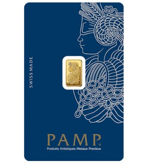 Pamp Fortuna Gold-Barren 1 g Scheckkarte LBMA zertifiziert