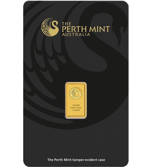 Perth Mint Gold-Barren 1 g Scheckkarte LBMA-zertifiziert